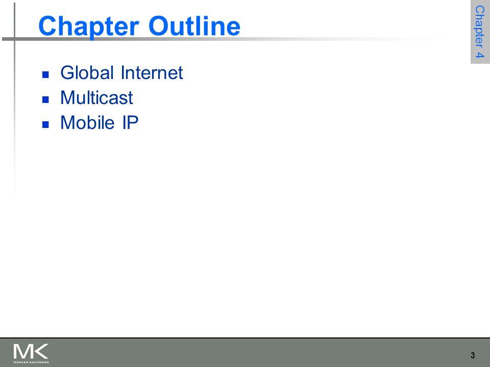 3 Chapter 4 Chapter Outline Global Internet Multicast Mobile IP