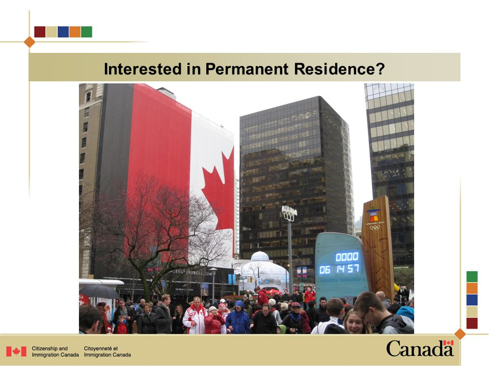 Interested in Permanent Residence