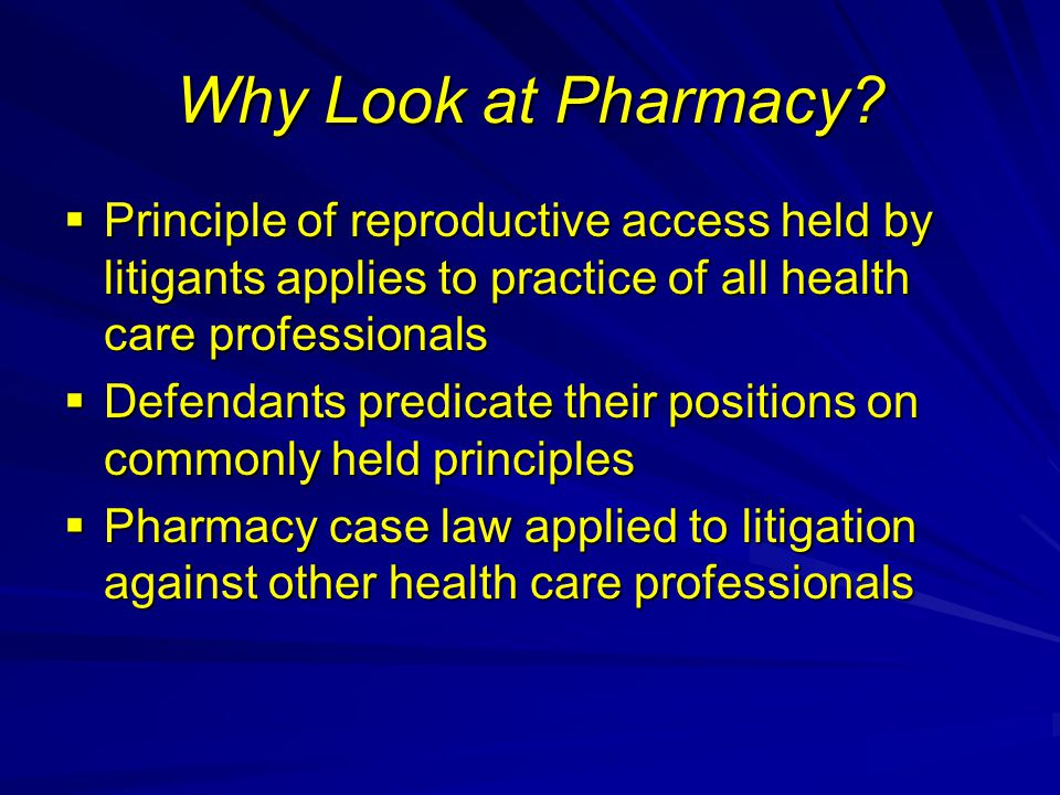 Why Look at Pharmacy.