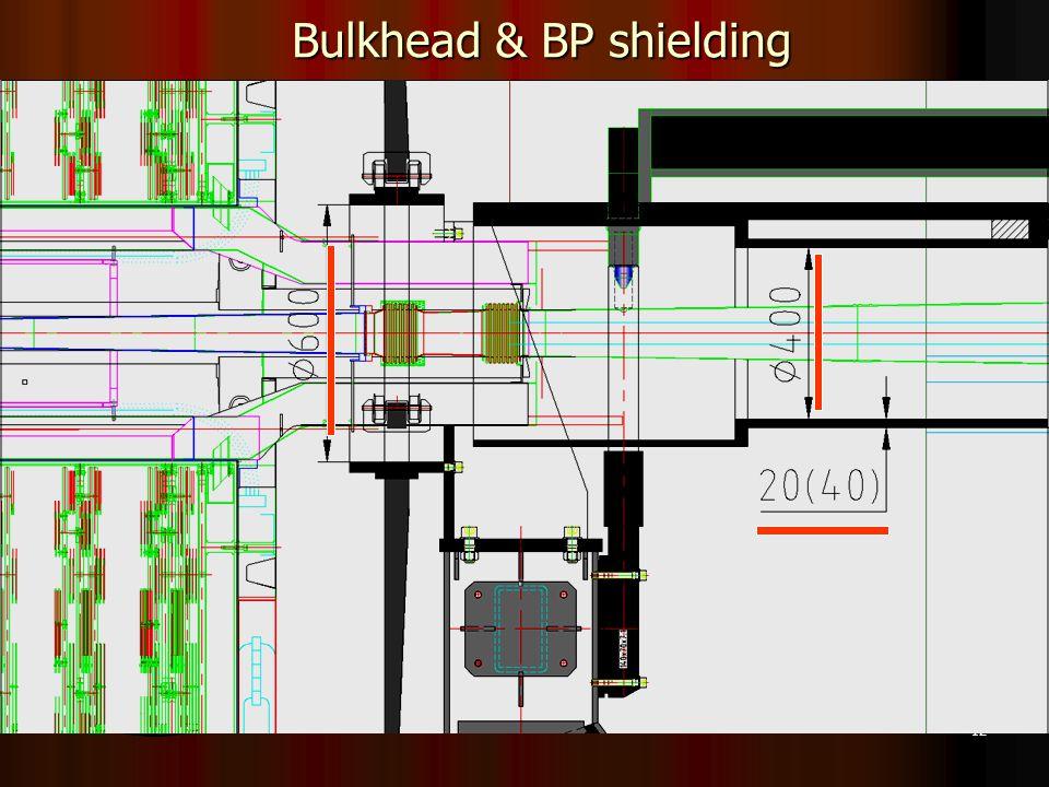 12 Bulkhead & BP shielding