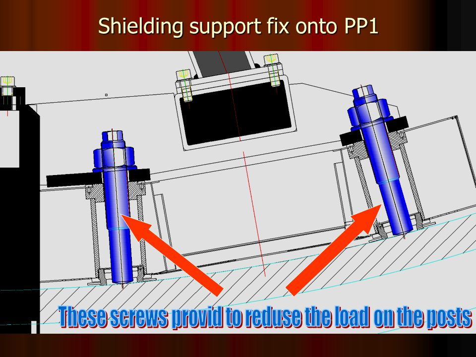 14 Shielding support fix onto PP1