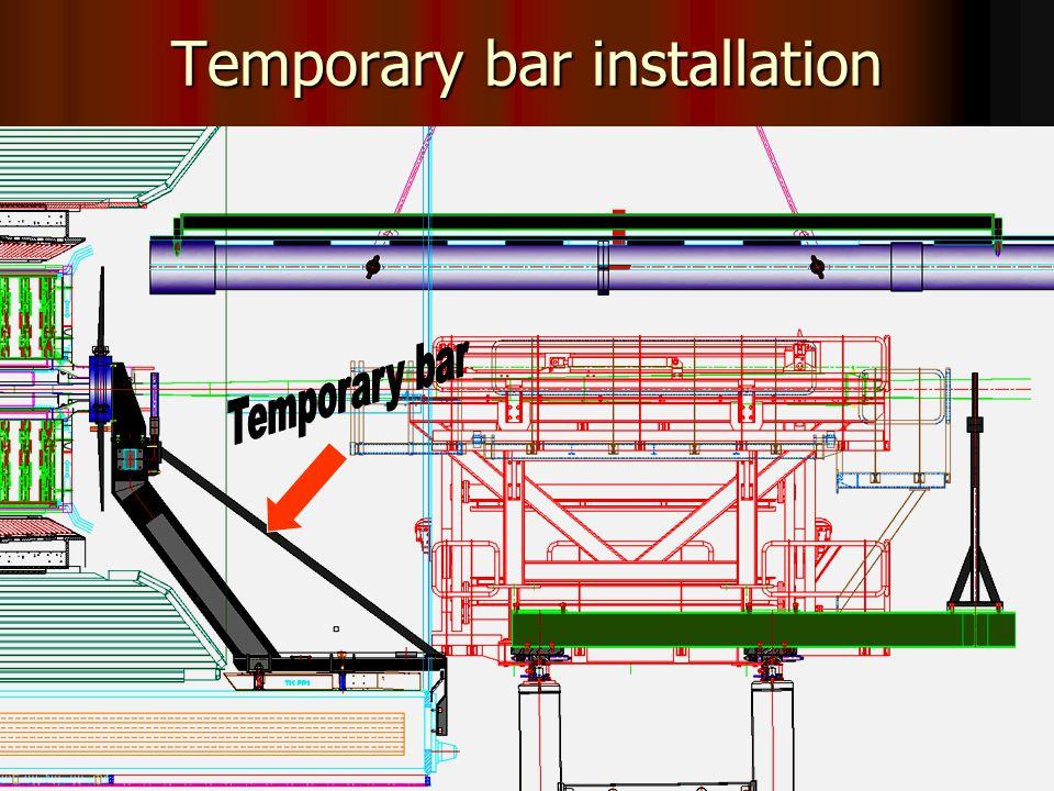 24 Temporary bar installation