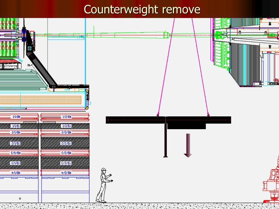 32 Counterweight remove