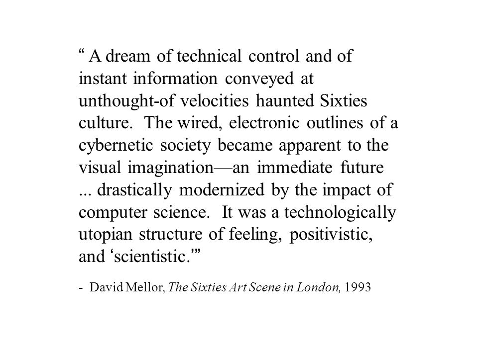 Cybernetics and Art: Convergences and Divergences in the 1960s Edward A.