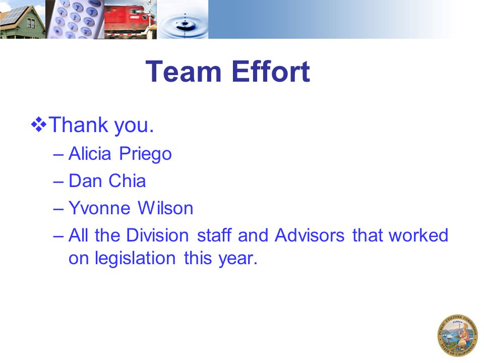 Team Effort  Thank you.