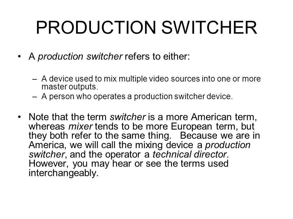AUDIO CONSOLE/SOUND MIXER Subgroup Channels Larger sound desks usually have a set of subgroups, which provide a way to sub-mix groups of channels before they are sent to the main output mix.