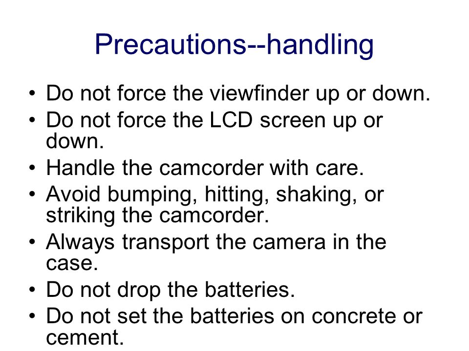 Precautions--cleaning Only use lens solution and lens paper when cleaning the lens. Improper cleaning can scratch the lens coating. Remove dirt from t