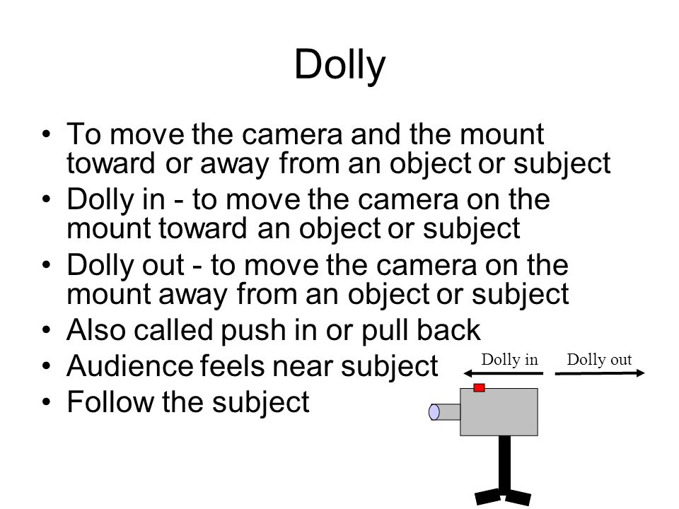 Pedestal (Ped) To move a camera up or down To raise or lower the camera on a pedestal mount Pedestal up or ped up - raise the camera Pedestal down or