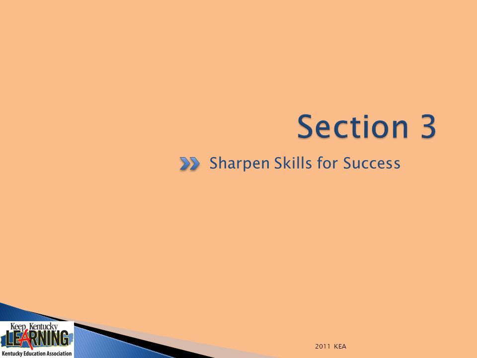 Sharpen Skills for Success 2011 KEA