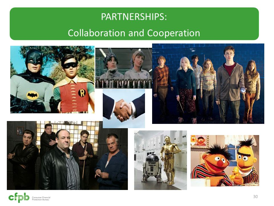 PARTNERSHIPS: Collaboration and Cooperation 30