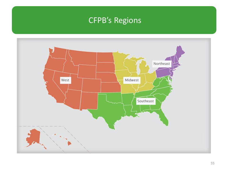 55 CFPB's Regions