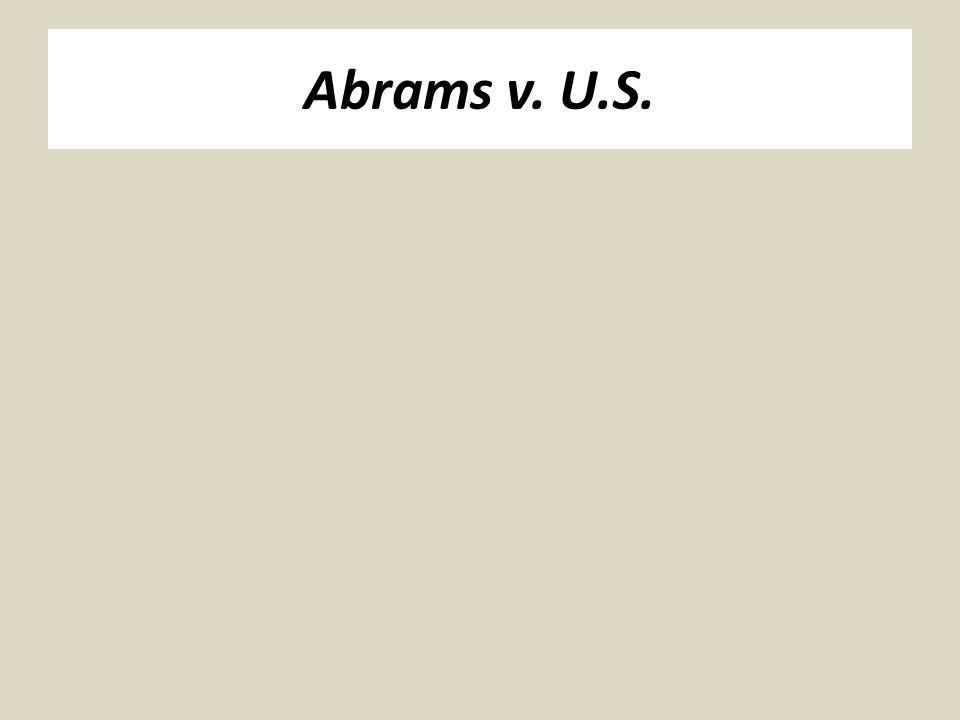 Abrams v. U.S.