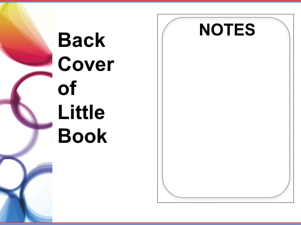 Back Cover of Little Book NOTES