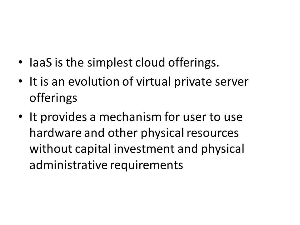 The advantage of IaaS : flexibility. The challenge of IaaS: optimization.