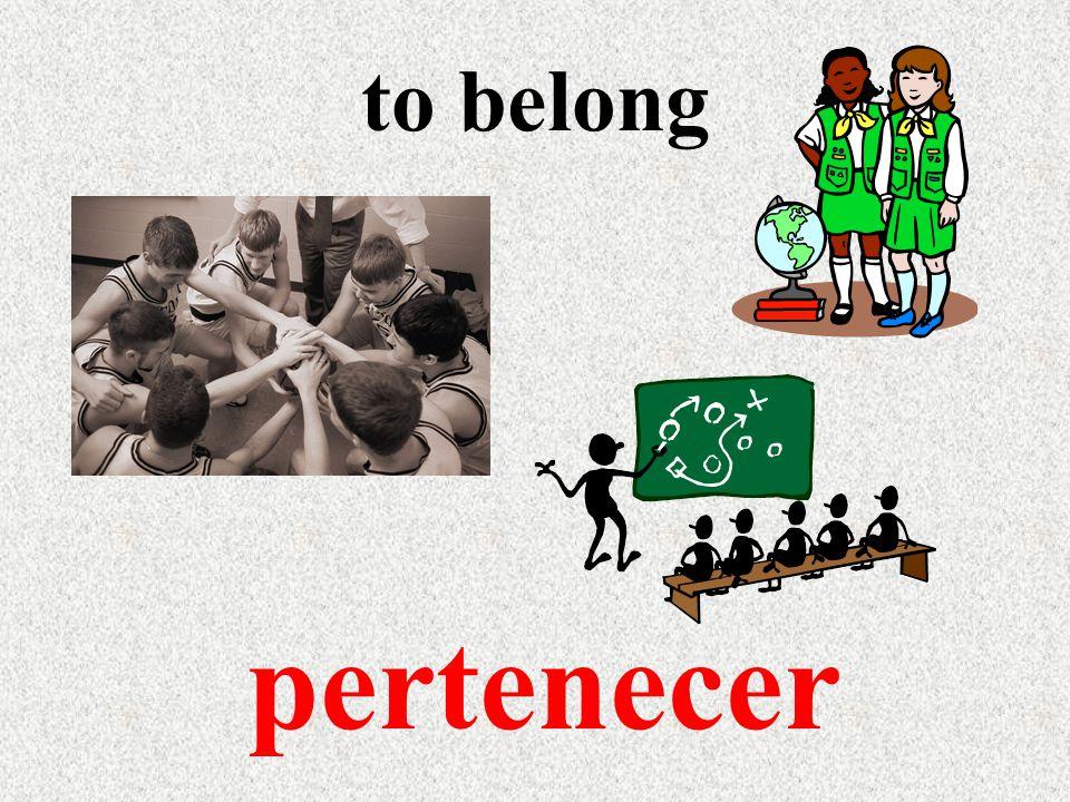 to belong pertenecer