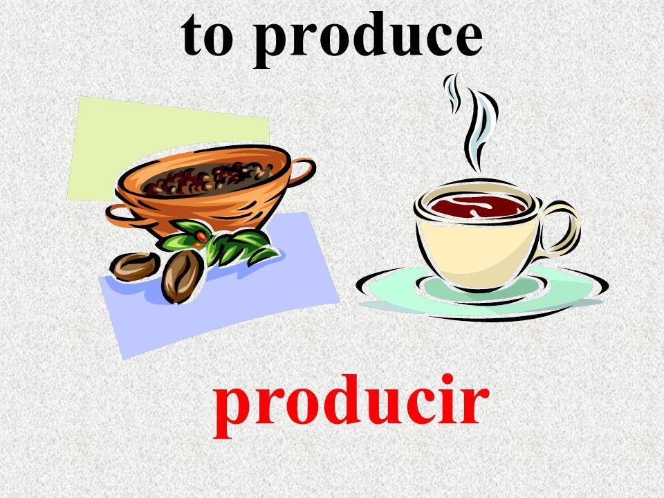 to produce producir
