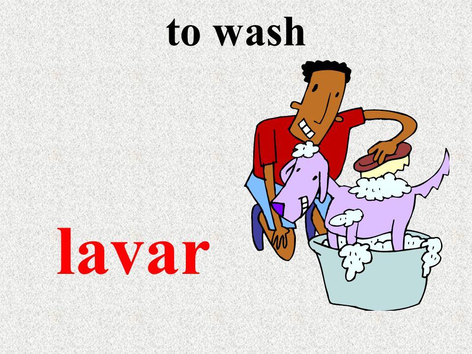to wash lavar