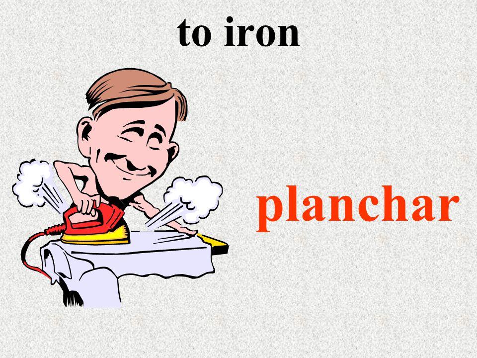 to iron planchar