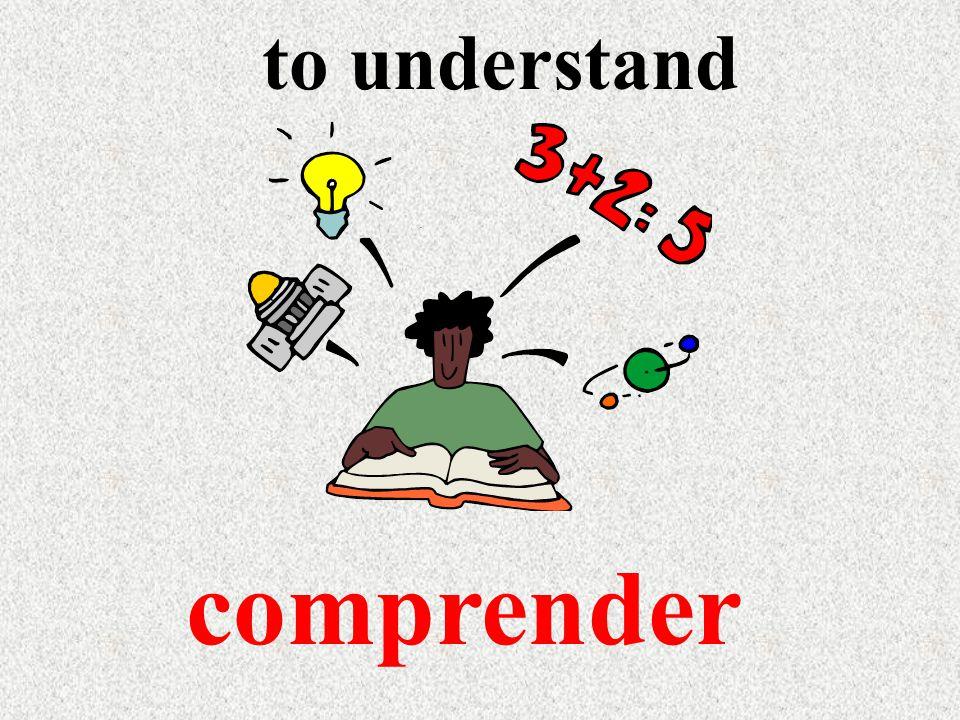 to understand comprender