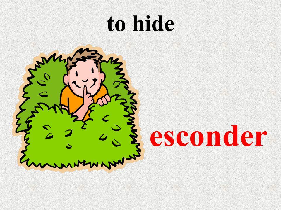 to hide esconder