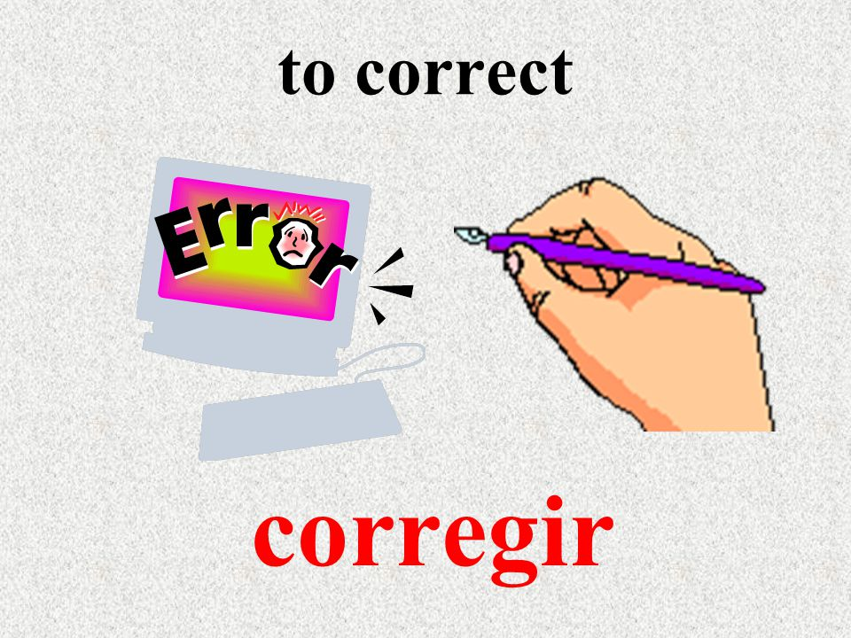 to correct corregir