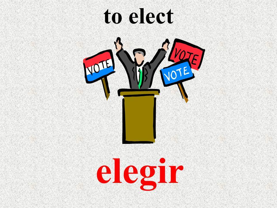 to elect elegir