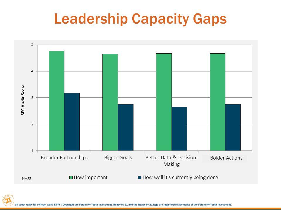 Leadership Capacity Gaps Bolder Actions