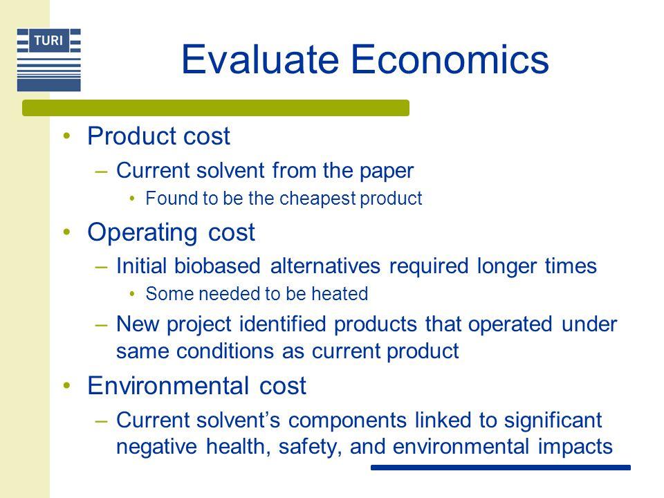 Evaluate Economics