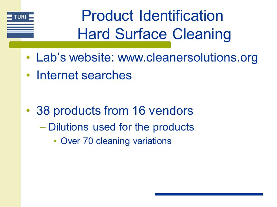 Process – Phase II Product Identification Lab Testing Field Testing Evaluate EH&S Evaluate Economics Recommendations for Change
