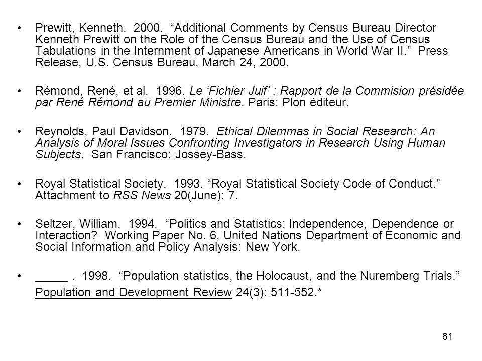 61 Prewitt, Kenneth. 2000.