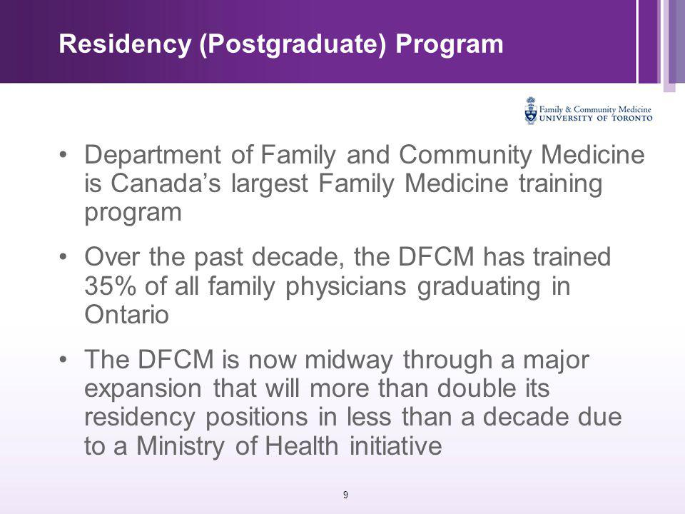30 MScCH - Executive Summary This proposal for a distinct new program in the Graduate Department of Public Health Sciences, addresses a critical training need in the health professions.