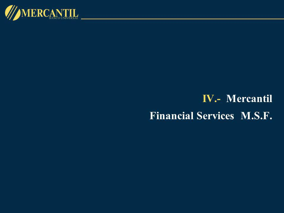 IV.-Mercantil Financial Services M.S.F.