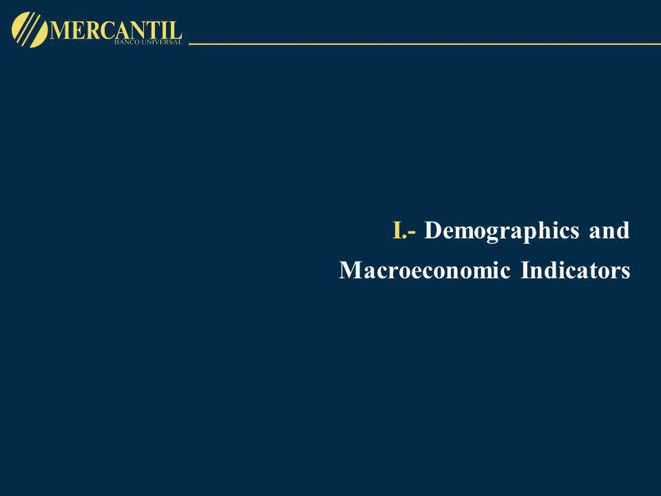 I.- Demographics and Macroeconomic Indicators