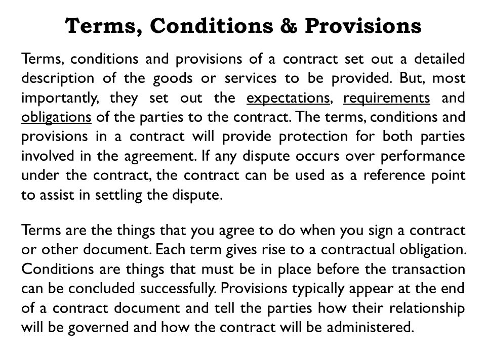 Identifying the Parties Use one word descriptive terms, introduced in the opening clause identifying the parties, to refer to the parties throughout the contract.