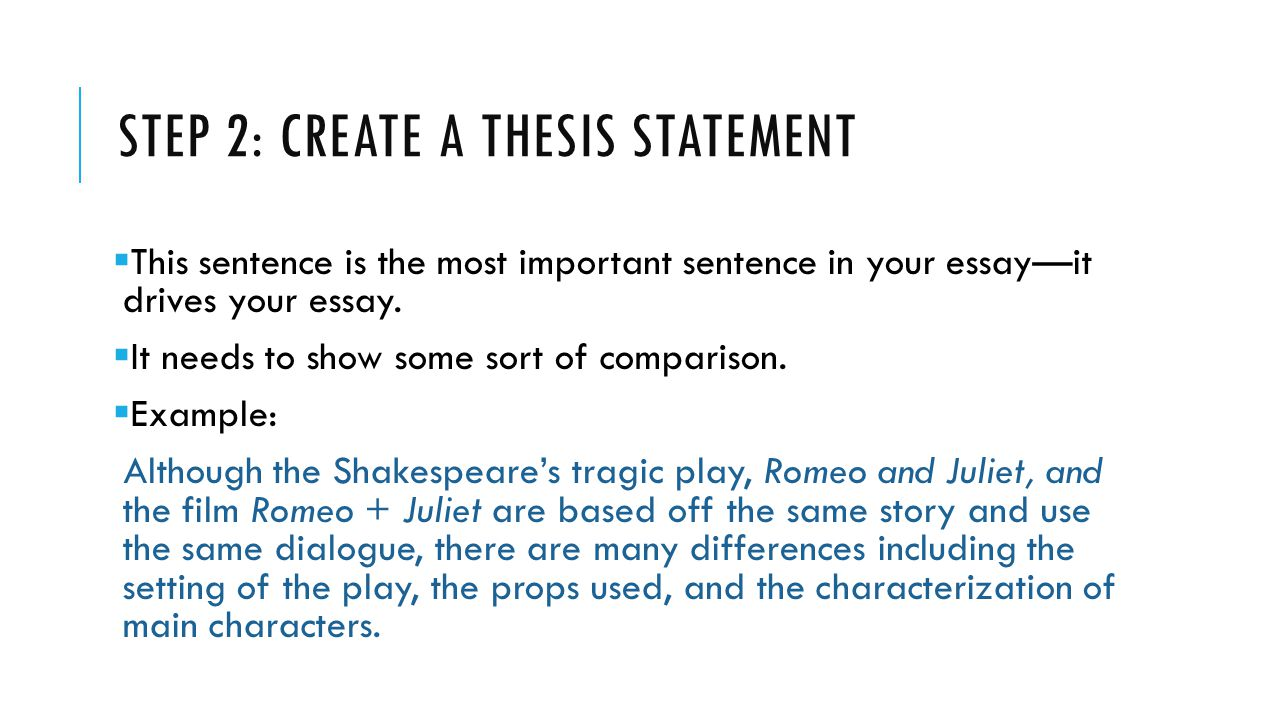 Invention: Developing a Thesis Statement - Reading/Writing Center