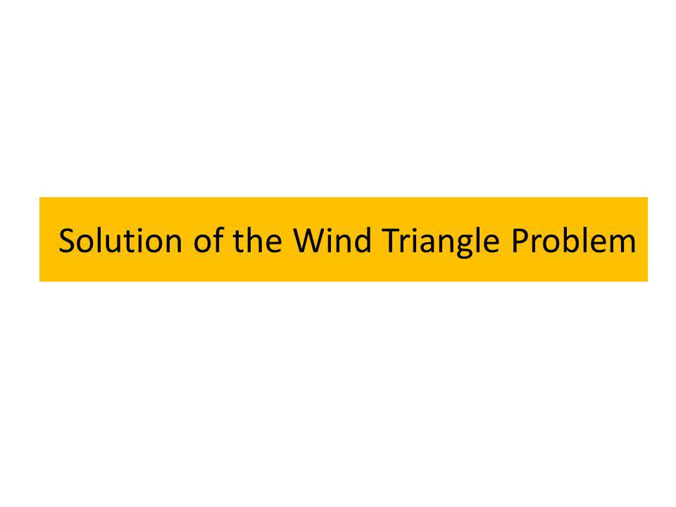 Solution of the Wind Triangle Problem