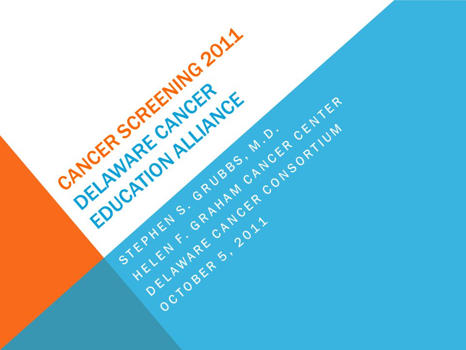 SOURCES OF SCREENING RECOMMENDATIONS American Cancer Society (ACS) American Society of Clinical Oncology (ASCO) National Cancer Institute (NCI) U.
