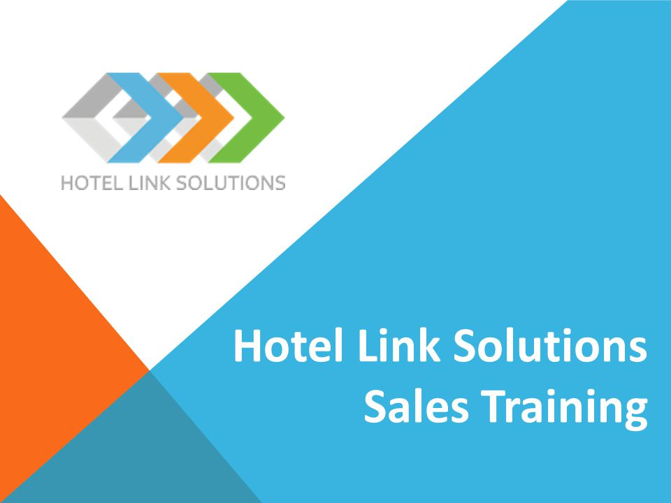 Hotel Link Solutions Sales Training