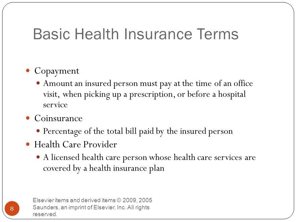 How Patients Pay for Health Care Services Elsevier items and derived items © 2009, 2005 Saunders, an imprint of Elsevier, Inc.