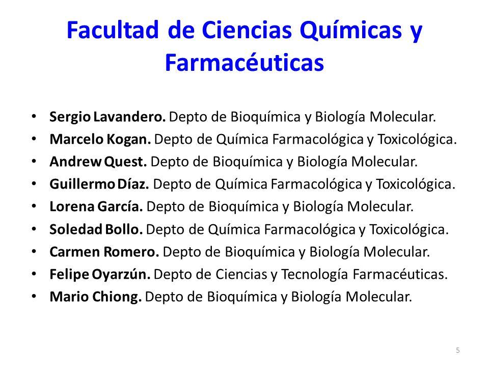 Facultad de Ciencias Químicas y Farmacéuticas Sergio Lavandero. Depto de Bioquímica y Biología Molecular. Marcelo Kogan. Depto de Química Farmacológic