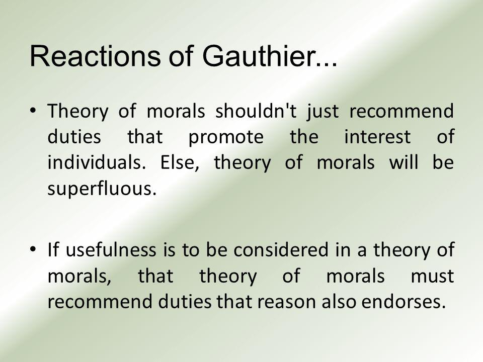 Reactions of Gauthier...