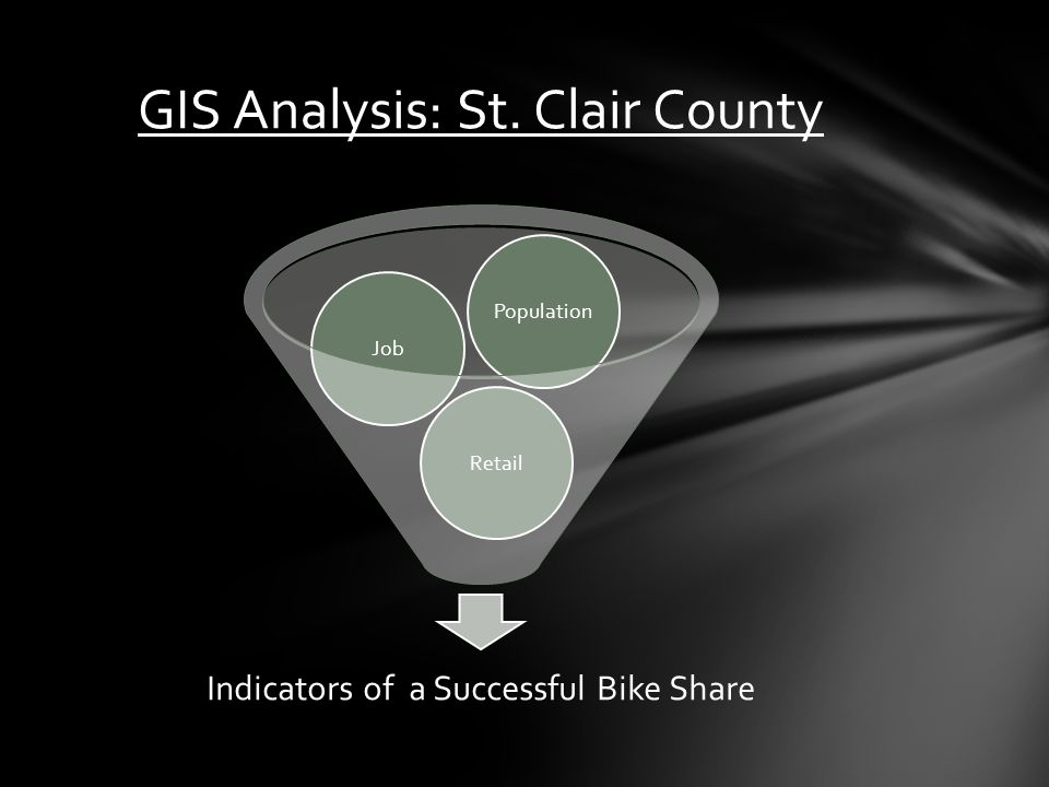Indicators of a Successful Bike Share RetailJobPopulation GIS Analysis: St. Clair County