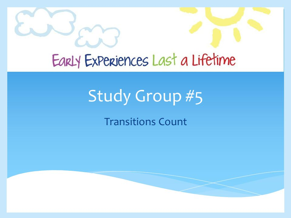 Study Group #5 Transitions Count