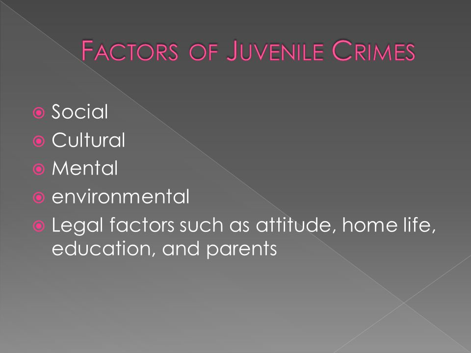 Juveniles held accountable for actions  Provide effective deterrence  Keep criminal activity out of the public  Balance all attention  Punishment severity = Criminal Act