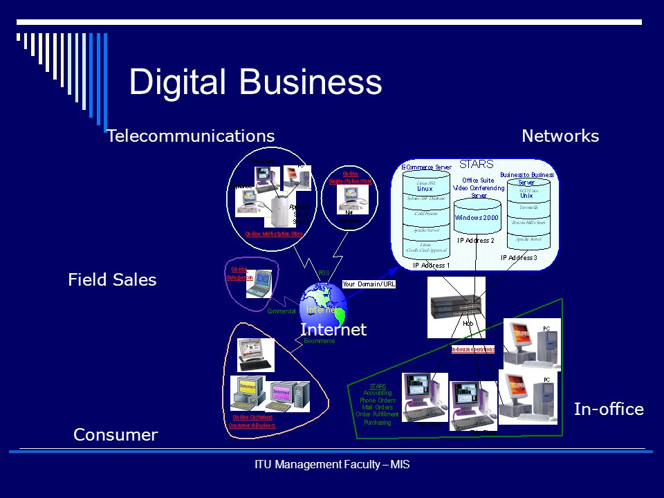 ITU Management Faculty – MIS Digital Business Networks Internet Telecommunications Consumer In-office Field Sales