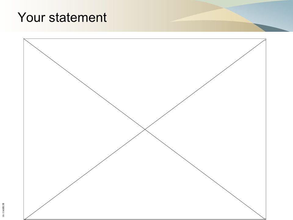 Your statement 99-1140MEM