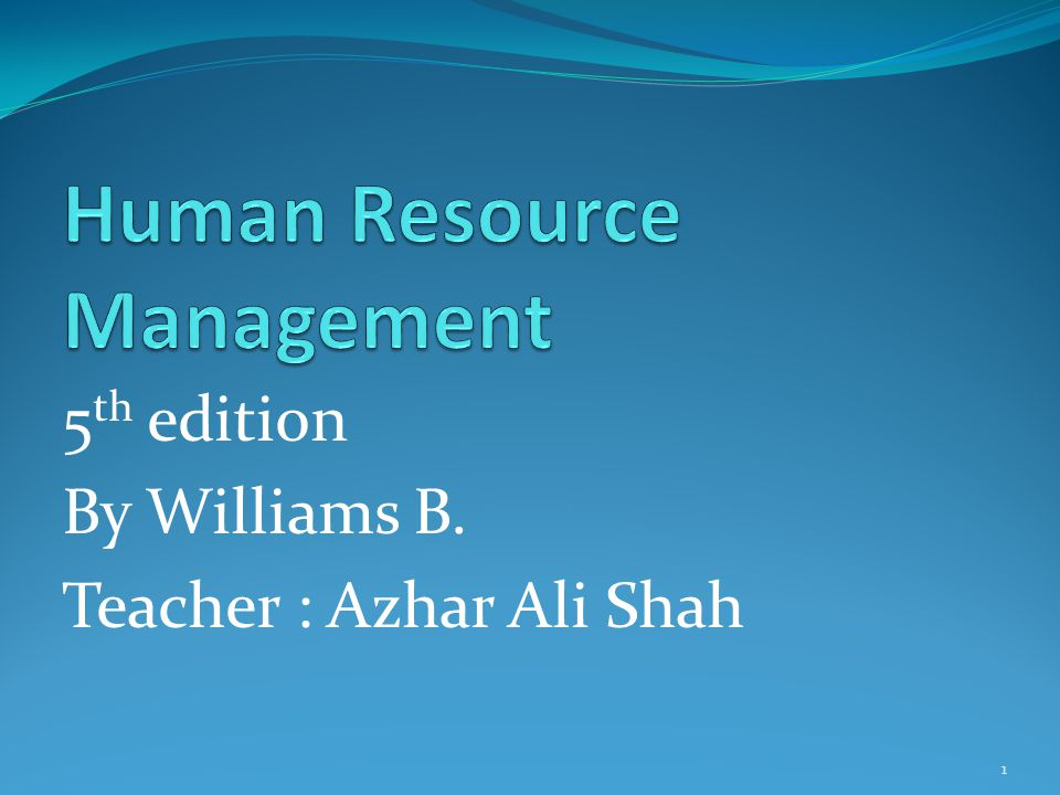 Definition : The part of management in organization which study the employees activities is called HRM.