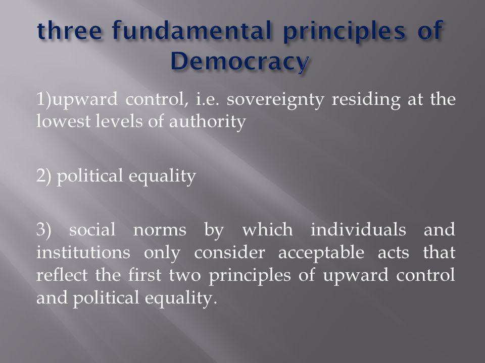 1)upward control, i.e.