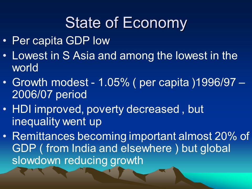 Performance of Past Policies Performance of Past Policies fate of most policies in Nepal .