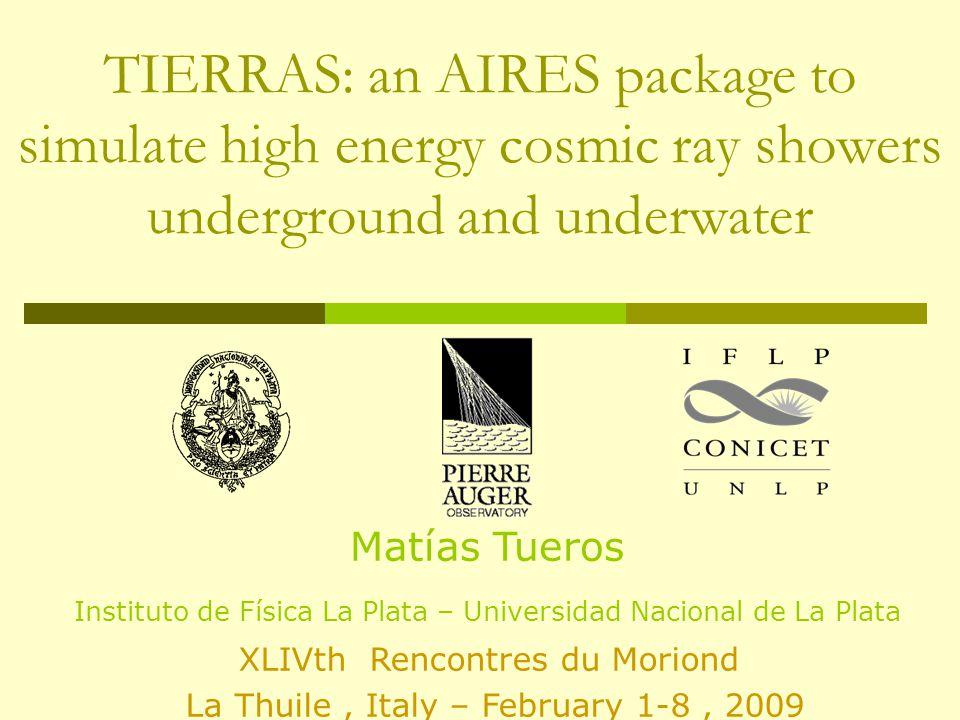 Total Number of Particles Underground Shower Simulations – MJ Tueros tueros@fisica.unlp.edu.ar 1 EeV Proton 1 EeV Iron